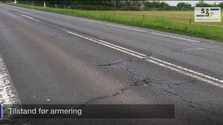 vejens tilstand før asfaltarmering