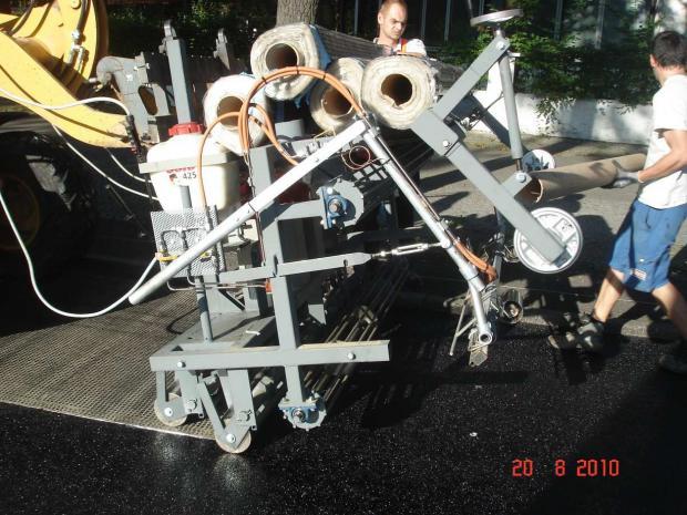 Mechanical application of S&P Glasphalt® G