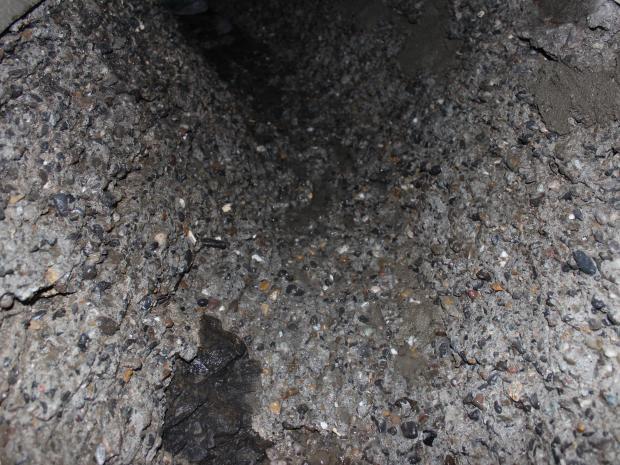 Underlaget efter fjernelsen af beton